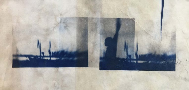 Tea-toned cyanotype
